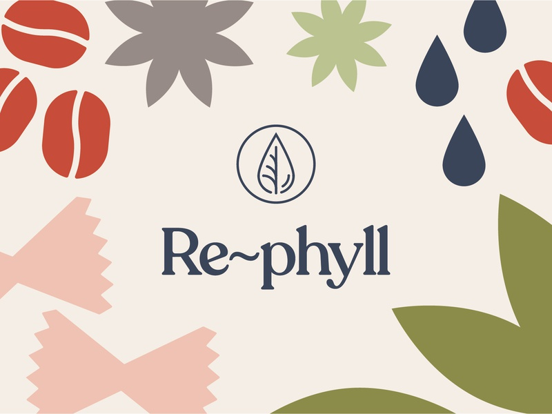 Re-Phyll Brand Identity – Logo Design & Illustrations zerowastestore illustration logo branding