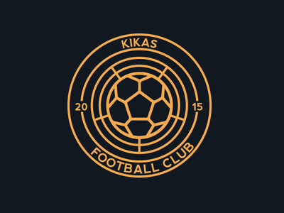 Kikas Football Crest badge crest football logo illustration design sports design football club soccer