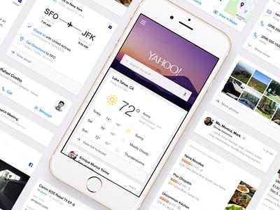 Yahoo Search app ios iphone google ux ui cards card feed search yahoo