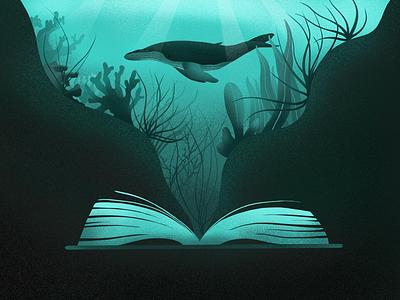 Ocean's tale book artwork art artmash illustrator art drawing nature plant seaplant whale ocean apple pencil ipadpro illustration design
