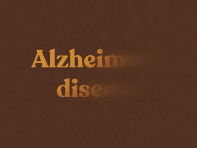 Alzheimer's disease illustration minimal graphic design art direction