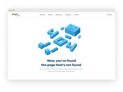 404 Error Page - Deadbot page not found robot vector ux design ui graphic design illustration minimal art direction 404 error page