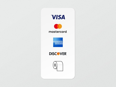 We accept... payment methods credit card sticker creative direction coronavirus design minimal graphic design art direction