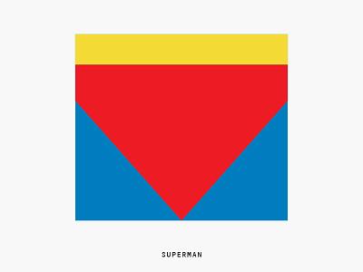 Minimal Movie Posters - Superman graphic design art direction film poster movie minimal