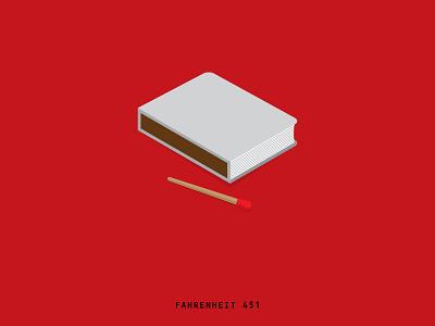 Minimal Movie Posters - Fahrenheit 451 graphic design art direction film poster movie minimal