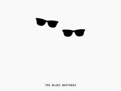 Minimal Movie Posters - Blues Brothers graphic design art direction poster movie minimal film