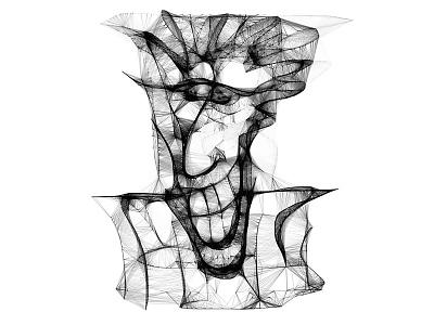 A Sketchy Guy black and white web sketch face portrait illustration