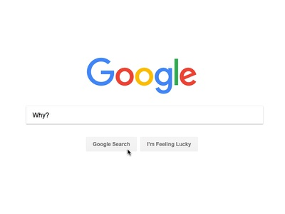 Google Why? creative direction art direction graphic design meaning search google poster concept