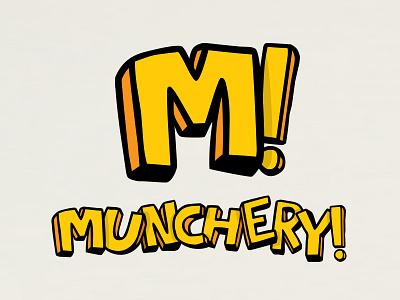 Munchery! visual identity visual identity fast food art direction graphic design typography branding logo