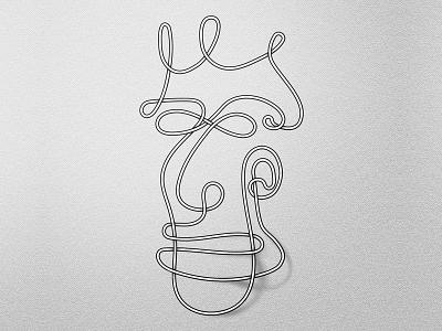 Mr Wirehead art direction graphic design optical illusion black and white escher sketch face portrait illustration