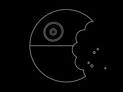 Death Star Cookie art direction graphic design death star cookie