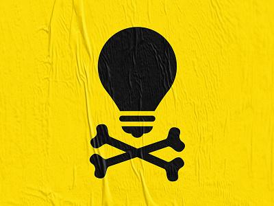 The Skullbulb art direction graphic design logo branding bulb skull pictogram icon
