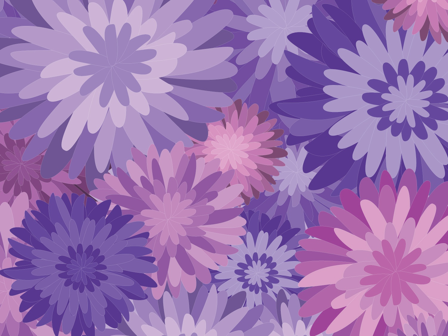 Purple Floral Pattern By Hannah Schick On Dribbble