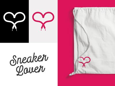 Sneaker Lover - Logo & Branding sneakerhead valentinesday pink identity identity branding branding and identity logodesign icon design handlettering lovecraft sneaker lettering type illustrator typography minimal design icon branding logo