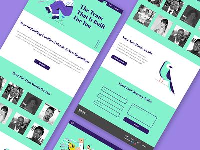 Real Estate Web Design 2 type illustration website flat branding ux ui typography minimal design