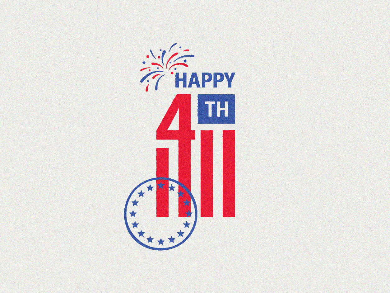 Happy Independence Day! - July 4th vintage retro stamp independenceday july 4th america illustration design logo