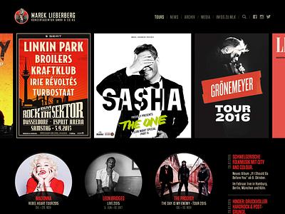 MLK Redesign redesign stark dark concert music website web