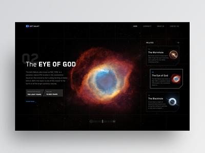 """Soft Galaxy"" Concept blackhole wormhole stars sky clean ui clean trend dribbble dark ui dark planet galaxy space hero landing web ui minimal web design ui design"