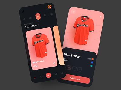 Sports Shop mobile cards ui clean ui t-shirt football addidas trendy minimal dress fashion ecommerce app ecommerce clothes sport store shop design app ui ui design