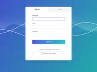 Web Signup Modal