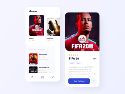 PS4 Game store concept navigation sketch clean ui red dead redemption console fifa 20 fifa product design minimal ui shop ecommerce store app game store store game app design app ui design