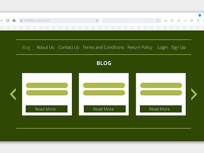 Blog Simple UI Design typography website web ux ui business abstract colors vibrant minimal flat clean branding vector design