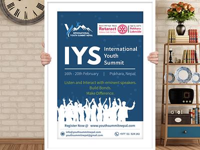 Youth Conference International Organization Poster logo illustration identity branding minimal flat clean branding vector design