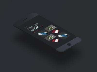 Simple Dark Portfolio Concept colors app ux ui vibrant clean flat minimal vector design