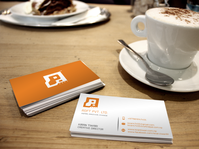 Roft Business Card Design flat logo identity branding clean branding vector design