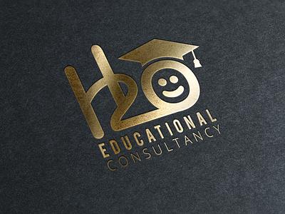 H2O Education Consultancy Logo logo clean flat minimal branding vector design