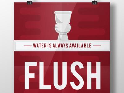 Flush Me Poster Design typography illustration colors vibrant minimal flat clean branding vector design