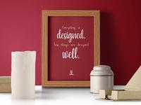 Design Quote Poster Design