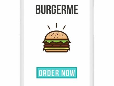 Burger Me Mobile App Concept typography ux ui illustration minimal flat clean vector design