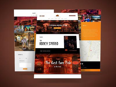 Pub Dancing Boat UI Design website web elegant ux ui typography icon colors vibrant illustration identity branding minimal branding flat clean vector design