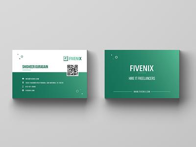 Business Card Design vibrant colors identity branding branding flat clean vector design