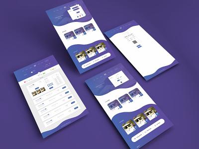 Trip NP User Website UI Design online ticket booking ticketing ticket bus product design booking website travel product app web ux ui colors vibrant minimal clean vector design