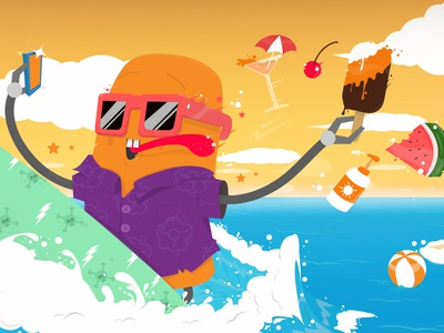 Skroutz Summer Illustration 2014
