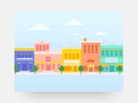 city scape illustration