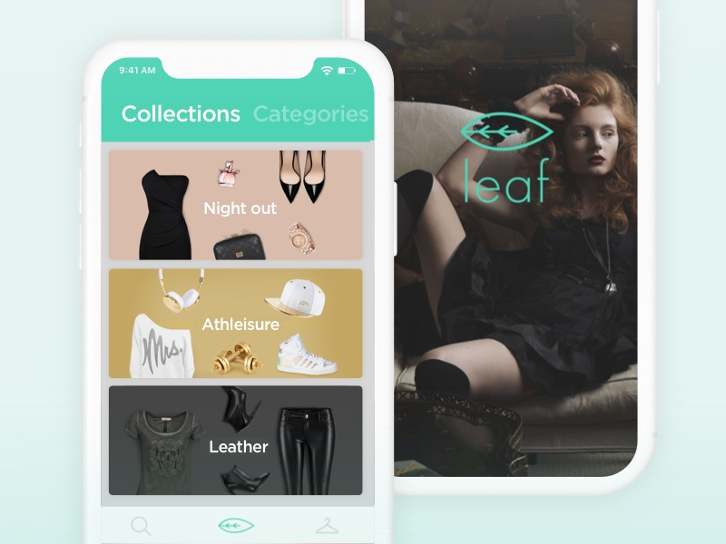 Leaf - Fashion App shopping ecommerce leaf skroutz x iphone collection app fashion