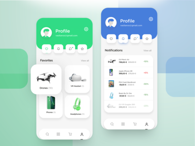 App User Profile Ecommerce