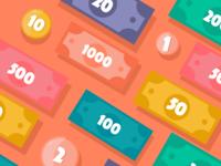 BANKI - coins and bills
