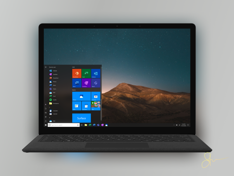 Icons Remake On Surface Laptop