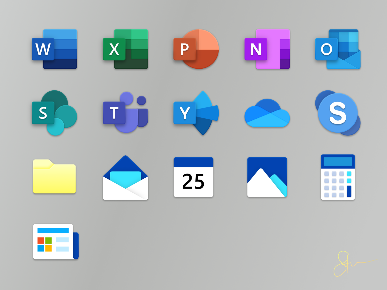 New Office   Windows Apps Icons By Steven Mancera On Dribbble