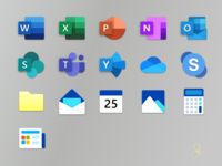 New Office + Windows Apps Icons