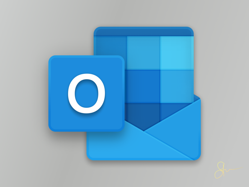 New Office Icons : Outlook Icon Closeup by Steven Mancera on