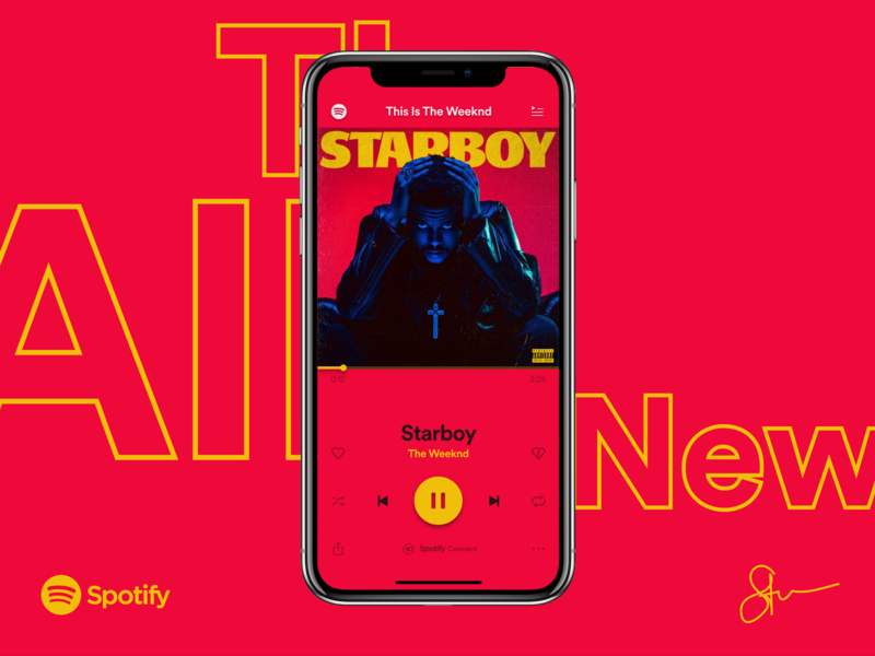 The All New Spotify Redesign music app music illustration art direction interaction design app  design spotify music spotify music player user experience ux ui ux design redesign