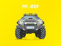Pixel Jeep