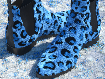 Leopard Shoes cinema4d digitalart illustration 3d artdirection shoes