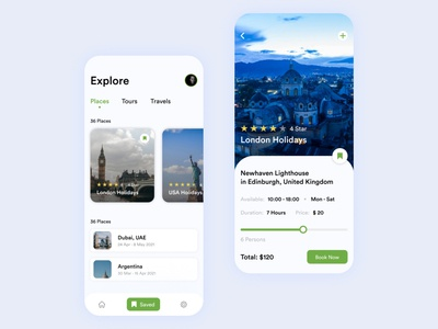 Holiday Booking app typography product design ux design ui design