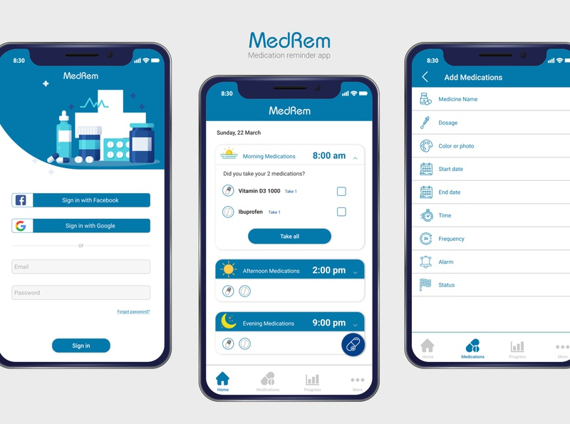 Medication reminder app_MedRem